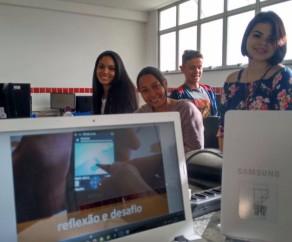 Equipe do projeto de extensão BiblioArte LAB no IFSULDEMINAS