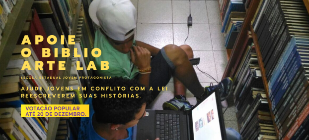 Apoio o projeto BiblioArte LAB, finalista do programa Educar para Transformar, Instituto MRV